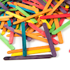 Coloured Craft Lolly Sticks  small