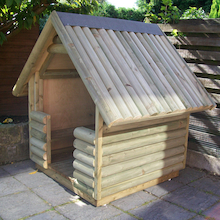 Outdoor Log Play Hut  medium