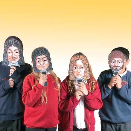Great Fire of London Role Play Face Masks 4pk  large