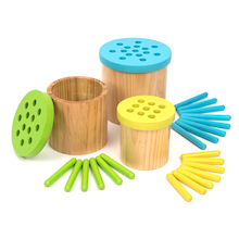 Colour Matching Posting Pots Wooden Straws  medium