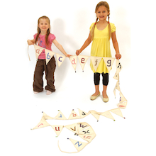 Fairtrade Cotton Alphabet Bunting Lowercase  medium