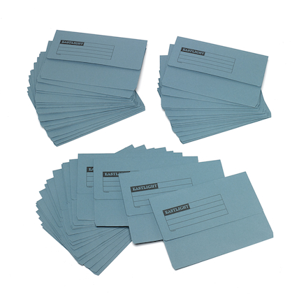 Mediumweight A4+ Document Wallets 50pk Blue  large