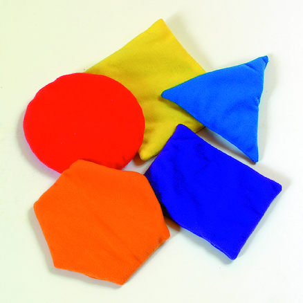 Colourful Shape Beanbags Class Pack 30pcs  large