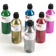 Glitter Ready Mix Paint 300ml 6pk  medium