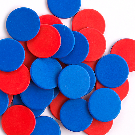 Two Colour Counters Red\/Blue 200pk  large