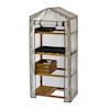 Wooden Greenhouse Nursery \x26 PE Cover Natural  small