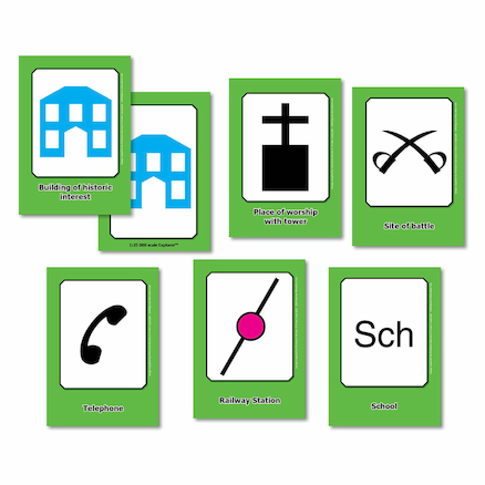 Buy Os Map Symbols Flashcards A6 32pk Free Delivery Tts