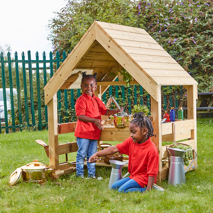 Wooden Mud Kitchen House  large