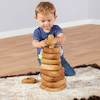 Giant Triangular Wooden Stacking Pyramid  small