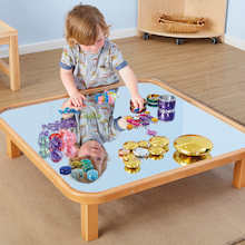 Mirrored Wooden Creative Low Toddler Table  medium