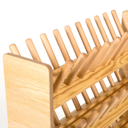 Wooden Indoor Wellie Rack  large