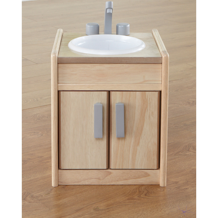 Toddler Height Wooden Kitchen Unit Sink  large