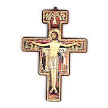 Wooden St. Damien's Cross  medium