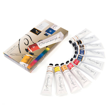 Chromacryl Acrylic Paint Tubes Assorted 75ml 10pk  medium