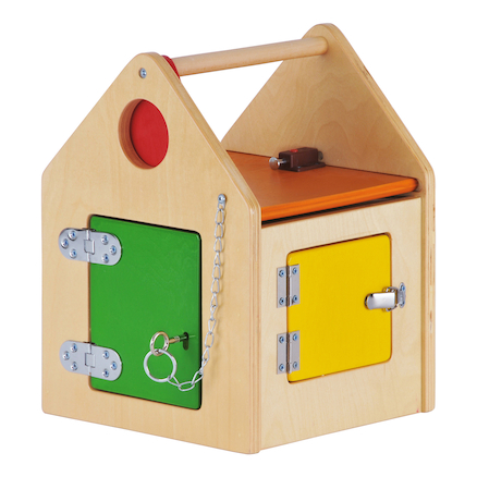 Wooden House with Locks and Latches  large