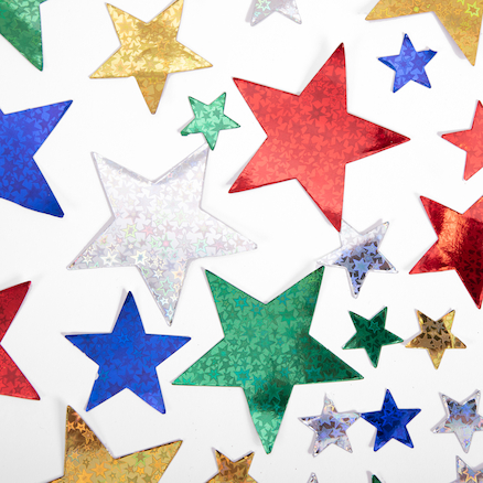 Holographic Paper Stars 210pk  large