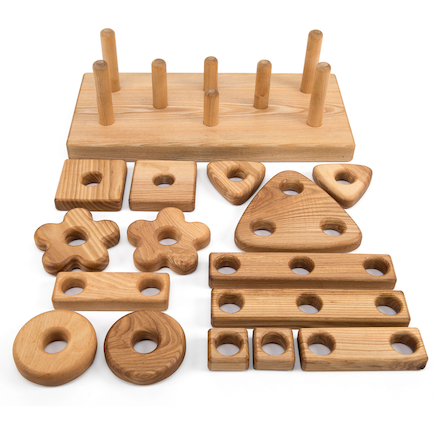 Wooden Stack and Build Block  large