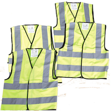 Dressing Up Construction High Visibility Vests 4pk  medium