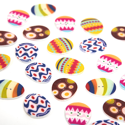Wooden Egg Shaped Buttons  large