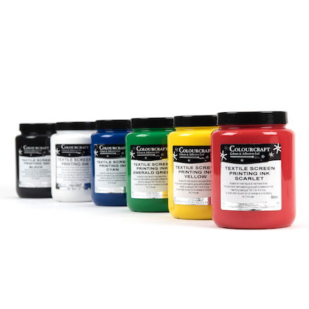 Heat Fix Screen Printing Ink Assorted 500ml 6pk  large